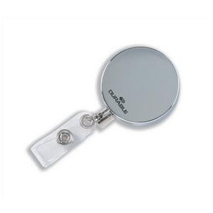 Durable Heavy Duty Badge Reel (Chrome) with Belt Clip and Retractable 80cm Cord
