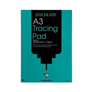 Goldline Heavyweight Tracing Pad 112gsm 50 Sheets A3 Ref GPT3A3Z