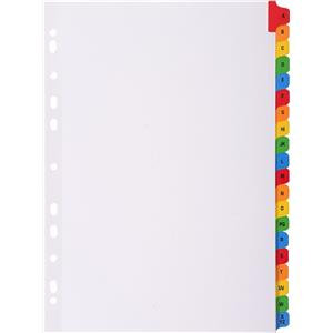 Exacompta (A4) 20 Part (A-Z) Tab Dividers (White)