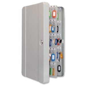 Cathedral Value Key Cabinet with 200 Coloured Key Tags and Numbered Hooks