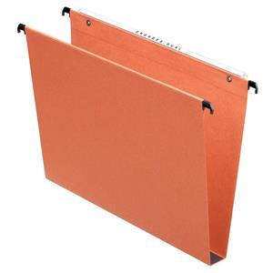 Esselte Orgarex (A4) Suspension File Kraft Square Base 30mm Capacity Orange