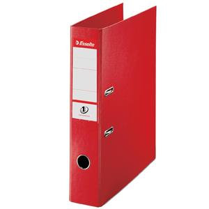 Esselte No. 1 Power Mini Lever Arch File PP Slotted 50mm Spine A4 Red