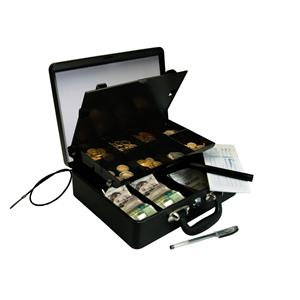 Helix Petty Cash Box with Organiser Coin Tray 8-Part and Note Section 3-Part