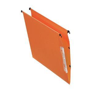 Esselte Orgarex Lateral File Kraft 220g/m2 V-base 15mm Capacity W330mm Orange