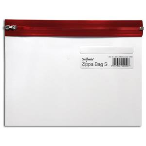 Snopake Zippa-Bag S (A5) Zipped Folder (Single Colour Red)