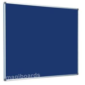 Magiboards Best Buy (240x120cm) Felt Notice Board Slim Aluminium Frame (Blue)