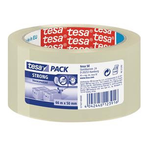 Tesa (50mm x 66m) Strong Transparent Packaging Tape (Clear)