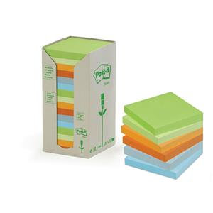 Post-It Sticky Notes Recycled Tower Pack Pastel Rainbow Assorted / 100 Sheets