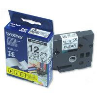 Brother 12mm Black on Clear Laminated Labelling Tape (8m)