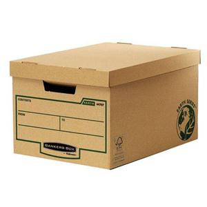 Bankers Box by Fellowes Earth Series (A4/Foolscap) Large Storage Box with Lift