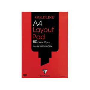 Goldline Layout Pad Bank Paper 50gsm 80 Pages A3/A4 Ref GPL1A3Z