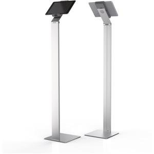 Durable Tablet Floor Stand Silver + Free Cleaning Kit