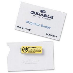 Durable (54x90mm) Magnetic Name Badges (Transparent)