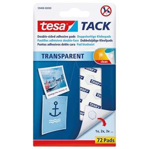 tesa Transparent Tack Double Sided Adhesive Pads