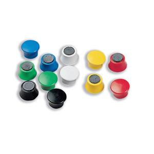 Nobo (18mm) Magnetic Drawing Pins (Assorted Colours)
