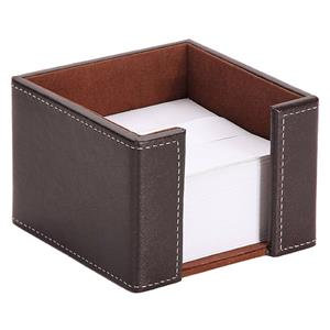 Osco Faux Leather Memo Pad Holder (Brown) with 750 Plain Memo Pads(White)