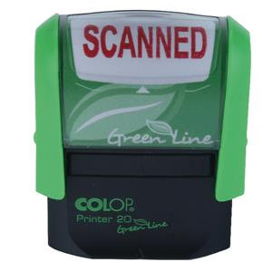 Colop Green Line (38mm x 14mm) Word Stamp SCANNED Red Ink