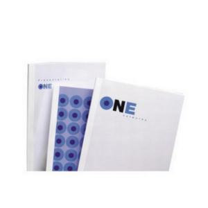 GBC (A4) Thermal Binding Covers 3mm Front PVC Clear Back Gloss (White)