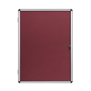 Bi-Office Enclore 720 x 981mm Indoor Felt Glazed Display Case (9 x A4) Lockable