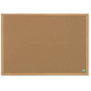 Bi-Office Earth-It Oak Frame Cork BoarD