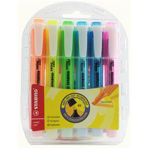 Stabilo Swing Cool Highlighter Water-based Chisel Tip 1-4mm Line Assorted