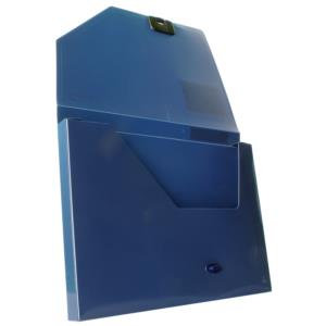 Snopake DocBox (A4) Polypropylene Box File with Push Lock Spine (Dark Blue)