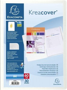 Exacompta Kreacover Display Book A4 30 Pockets 240 x 320 mm Polypropylene White