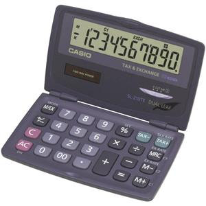 Casio SL-210TE 10-Digit Pocket Calculator (Black)