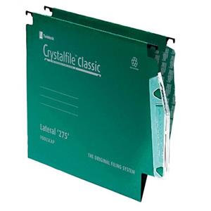 Rexel Crystalfile Classic 275 Lateral File 15mm (Green)