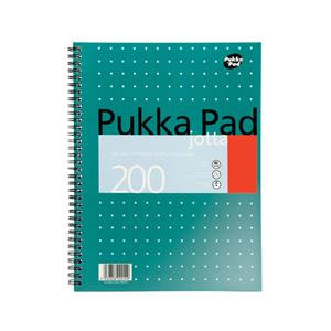 Pukka Pad Notebook Wirebound Jotta 80gsm Ruled and Margin 4 Hole 200 Pages A4
