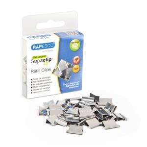 Rapesco Supaclip 40 Refill (Stainless Steel) for 40 Sheets of 80gsm per Clip