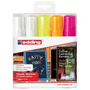 Edding 4090 Chalk Markers Chisel Tip (Assorted Colours)