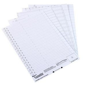 Rexel Crystalfile Lateral 275 File Inserts (White)