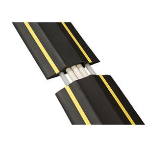 D-Line (1.8m) Linkable Floor Cable Cover (80mm Wide) with C/W Connectors