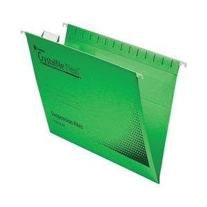 Rexel Crystalfile Flexifile Foolscap Manilla Suspension File V-Base / Pack of 50