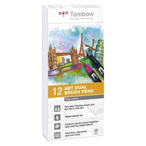 Tombow ABT Dual Brush Pens with 2 Tips / Pack of 12