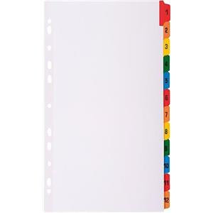 Exacompta (A4) 12 Part (1-12) Tab Dividers (White)