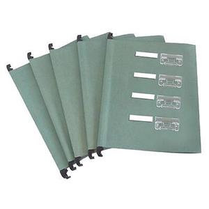 Cathedral Value (Foolscap) Manilla Suspension Files (Green) Tabs and Inserts