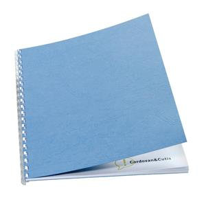GBC Antelope (A4) Binding Covers Leather-Look Plain (Wedgewood Blue)