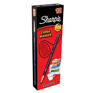Sharpie China Wax Marker Pencil Peel-off Unwraps to Sharpen / Pack 12