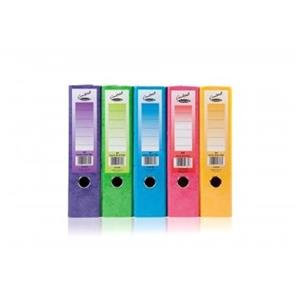 Concord (A4) Contrast Lever Arch File Laminated Capacity 80mm Assorted