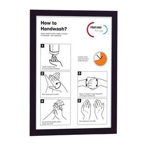 Durable (A3) Self-Adhesive Information Sign with Folding Magnetic Front Panel