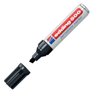 Edding 500 Permanent Marker Chisel Tip 2-7mm Line Black