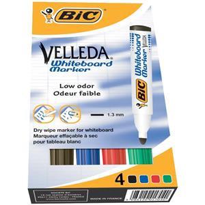 Bic Velleda 1701 Dry Wipe Bullet Tip Whiteboard Marker Pen (Assorted)