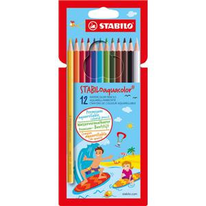 Stabilo Aquacolor Watercolour Pencils Lightfast Line Width 2.8mm Assorted