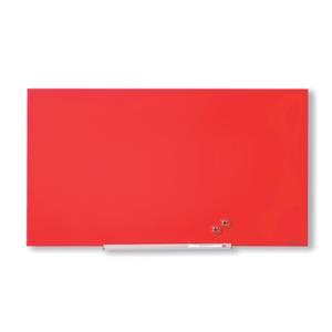 Nobo Widescreen (45 inch) Glass Whiteboard (Red)