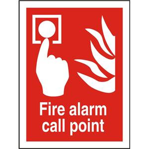 Stewart Superior Self Adhesive Vinyl Sign (150x200) - Fire Alarm Call Point
