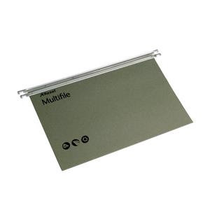 Rexel Multifile Foolscap Suspension File 15mm Green