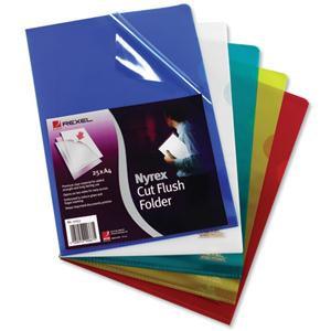 Rexel Nyrex (A4) Cut Flush Folders / Pack of 25