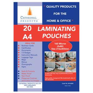 Cathedral (A4) Laminating Pouch 160 Microns